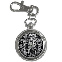 Floral High Contrast Pattern Key Chain Watches