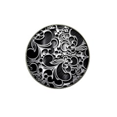 Floral High Contrast Pattern Hat Clip Ball Marker (4 pack)