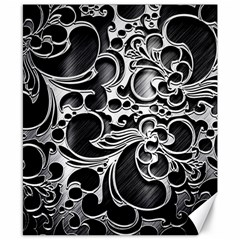 Floral High Contrast Pattern Canvas 8  x 10