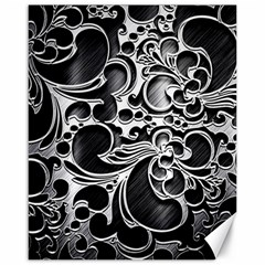 Floral High Contrast Pattern Canvas 16  x 20