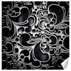 Floral High Contrast Pattern Canvas 20  x 20