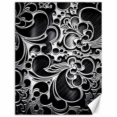Floral High Contrast Pattern Canvas 18  X 24
