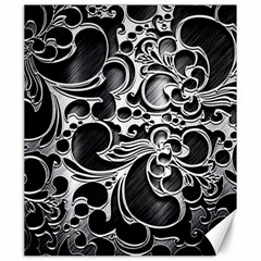 Floral High Contrast Pattern Canvas 20  X 24