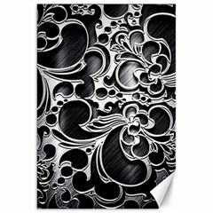 Floral High Contrast Pattern Canvas 20  x 30