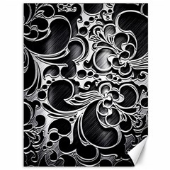 Floral High Contrast Pattern Canvas 36  x 48