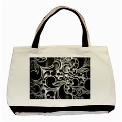 Floral High Contrast Pattern Basic Tote Bag (Two Sides)