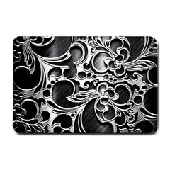 Floral High Contrast Pattern Small Doormat