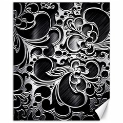 Floral High Contrast Pattern Canvas 11  x 14