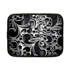 Floral High Contrast Pattern Netbook Case (Small)