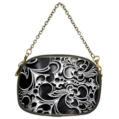 Floral High Contrast Pattern Chain Purses (One Side)