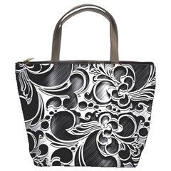 Floral High Contrast Pattern Bucket Bags