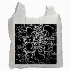 Floral High Contrast Pattern Recycle Bag (two Side)
