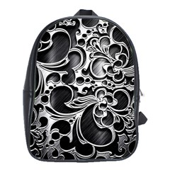 Floral High Contrast Pattern School Bags(Large)