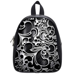 Floral High Contrast Pattern School Bags (Small)