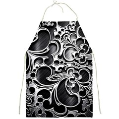 Floral High Contrast Pattern Full Print Aprons