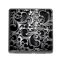 Floral High Contrast Pattern Memory Card Reader (square)