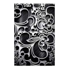 Floral High Contrast Pattern Shower Curtain 48  x 72  (Small)