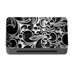Floral High Contrast Pattern Memory Card Reader with CF