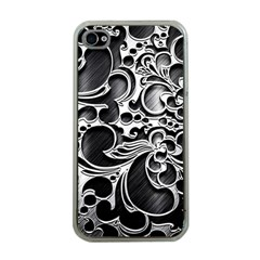 Floral High Contrast Pattern Apple iPhone 4 Case (Clear)