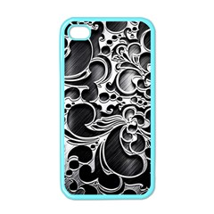 Floral High Contrast Pattern Apple iPhone 4 Case (Color)