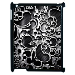 Floral High Contrast Pattern Apple Ipad 2 Case (black)