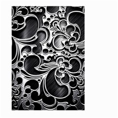 Floral High Contrast Pattern Large Garden Flag (two Sides)