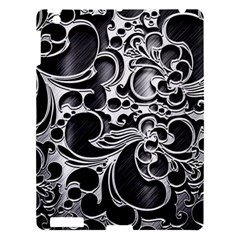 Floral High Contrast Pattern Apple iPad 3/4 Hardshell Case