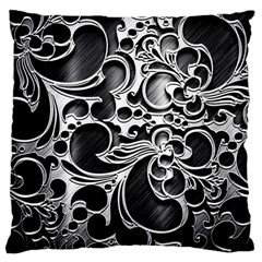 Floral High Contrast Pattern Large Cushion Case (two Sides)