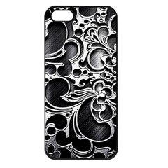 Floral High Contrast Pattern Apple iPhone 5 Seamless Case (Black)