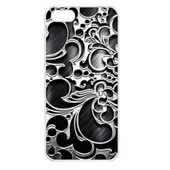 Floral High Contrast Pattern Apple iPhone 5 Seamless Case (White)