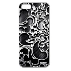 Floral High Contrast Pattern Apple Seamless iPhone 5 Case (Clear)
