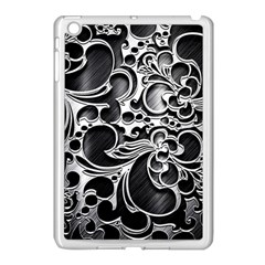 Floral High Contrast Pattern Apple Ipad Mini Case (white)