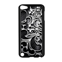 Floral High Contrast Pattern Apple iPod Touch 5 Case (Black)