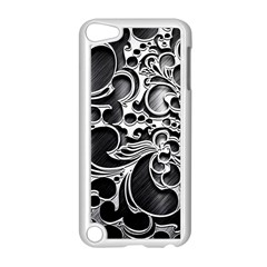 Floral High Contrast Pattern Apple iPod Touch 5 Case (White)