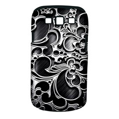 Floral High Contrast Pattern Samsung Galaxy S III Classic Hardshell Case (PC+Silicone)