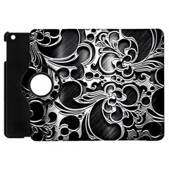 Floral High Contrast Pattern Apple iPad Mini Flip 360 Case