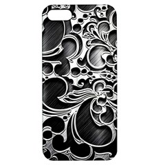 Floral High Contrast Pattern Apple iPhone 5 Hardshell Case with Stand