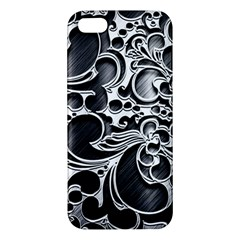 Floral High Contrast Pattern Apple Iphone 5 Premium Hardshell Case