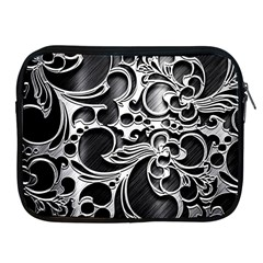 Floral High Contrast Pattern Apple Ipad 2/3/4 Zipper Cases