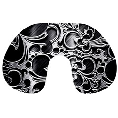 Floral High Contrast Pattern Travel Neck Pillows