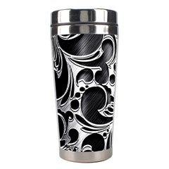 Floral High Contrast Pattern Stainless Steel Travel Tumblers