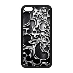 Floral High Contrast Pattern Apple iPhone 5C Seamless Case (Black)