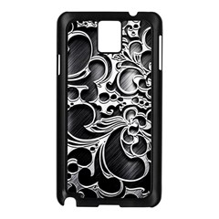 Floral High Contrast Pattern Samsung Galaxy Note 3 N9005 Case (Black)