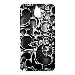 Floral High Contrast Pattern Samsung Galaxy Note 3 N9005 Hardshell Back Case