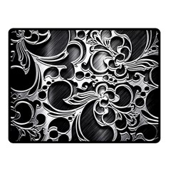 Floral High Contrast Pattern Double Sided Fleece Blanket (small)