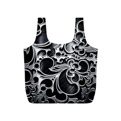 Floral High Contrast Pattern Full Print Recycle Bags (s)