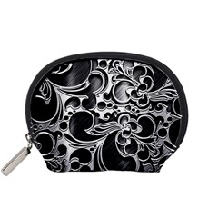 Floral High Contrast Pattern Accessory Pouches (Small)