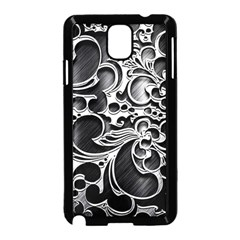Floral High Contrast Pattern Samsung Galaxy Note 3 Neo Hardshell Case (black)