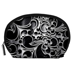 Floral High Contrast Pattern Accessory Pouches (Large)