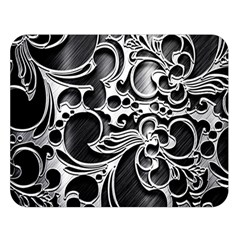 Floral High Contrast Pattern Double Sided Flano Blanket (Large)